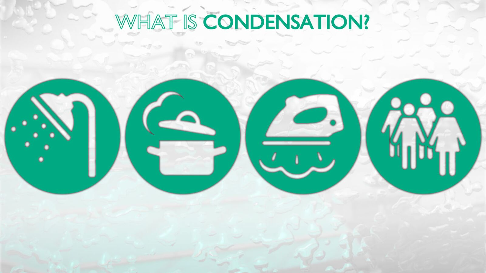 Examples of condensation.