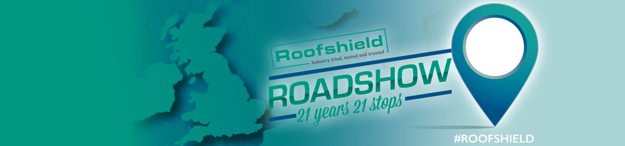 Roofshield Roadshow Banner