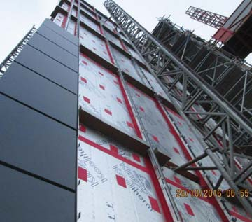 Wraptite Tape used on Commercial Building